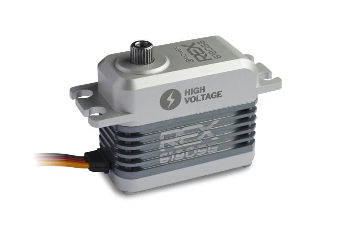D-Power REX 6180SG HV Coreless Servo, 40x20x33mm, 55g, 176Ncm bei 8,4V - Bild 1