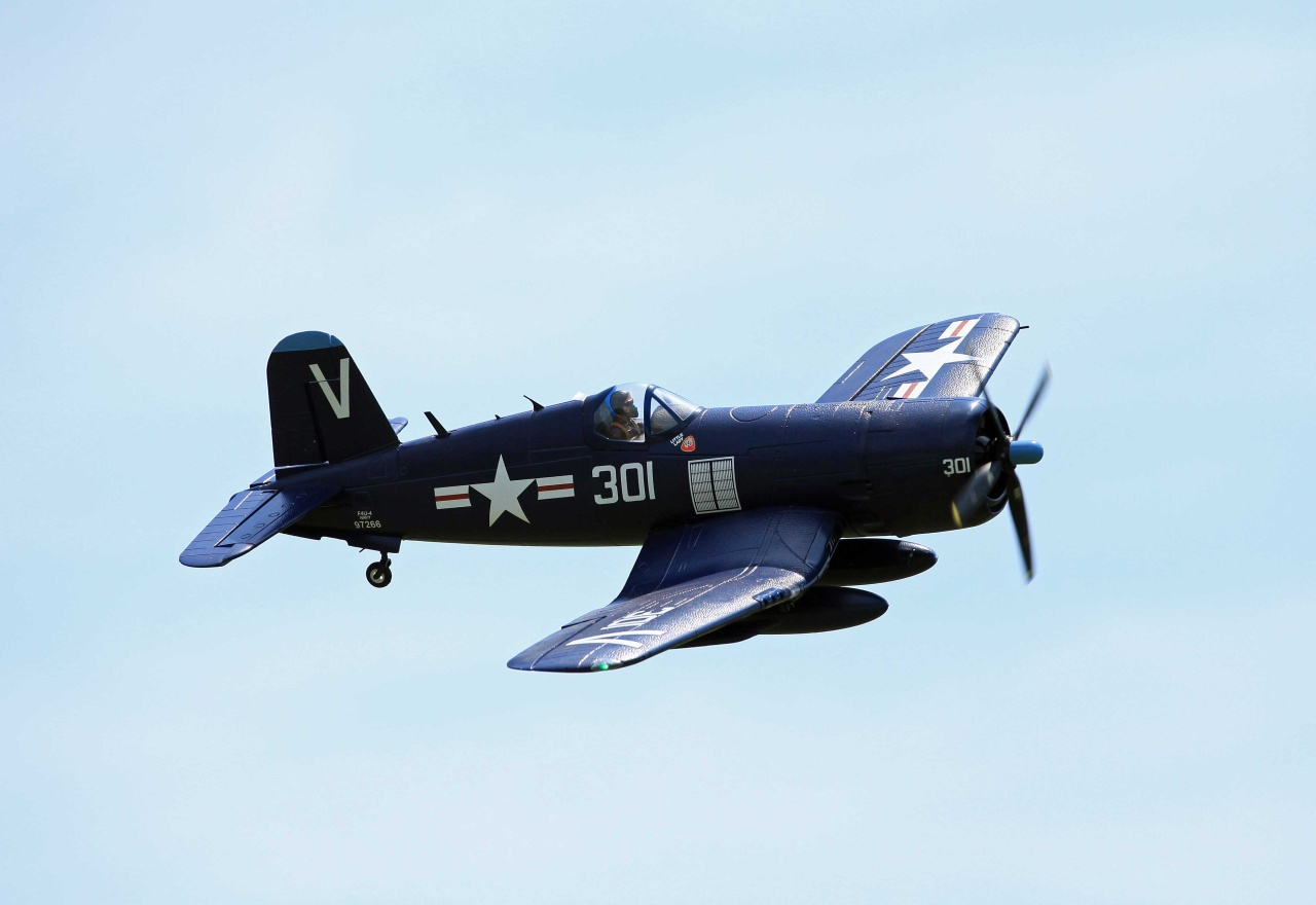 F4U Corsair, Spw. 1430mm, PNP, D-Power # FMS024PBLU - Bild 1