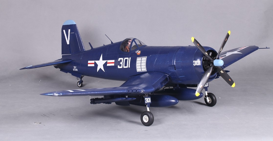 F4U Corsair, Spw. 1430mm, PNP, D-Power # FMS024PBLU - Bild 3