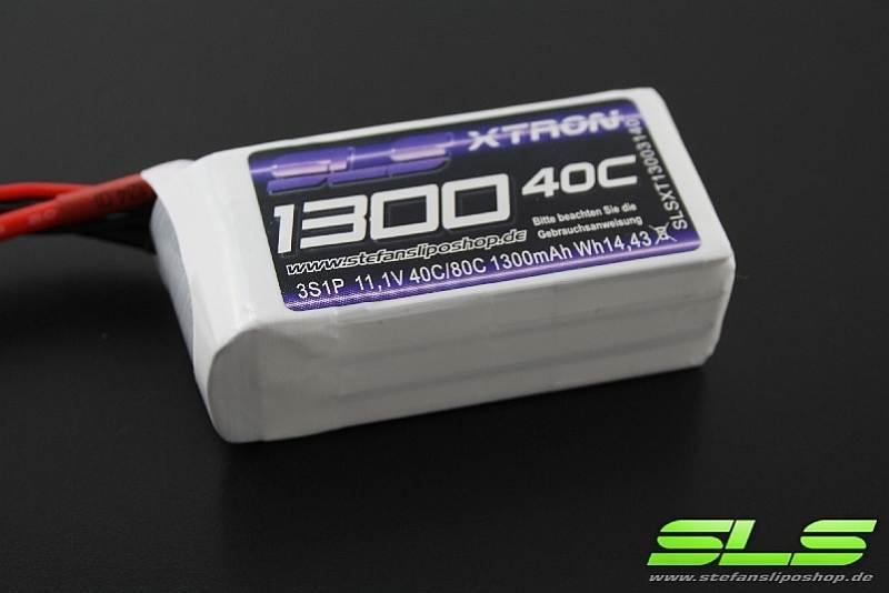 SLS XTRON 1300mAh 3S1P 11,1V 40C//80C #SLSXT13003140