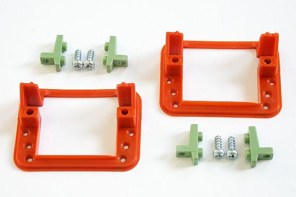 Servo Einbaurahmen für Servos bis 17mm Servorahmen Servoabdeckung