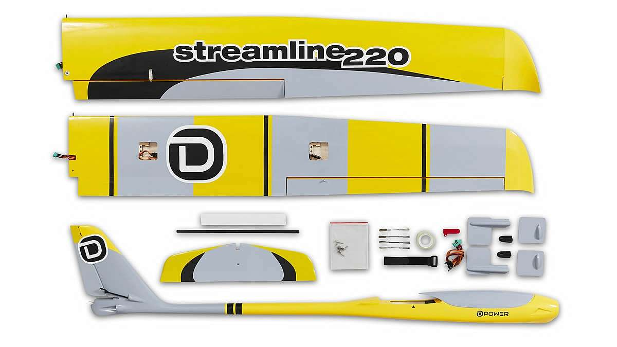 Streamline 220, Elektrosegler, ARF+, Spw. 2200mm, D-Power # DPSTL220 - Bild 9