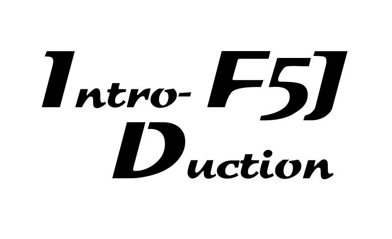 "Logo ""INTRODUCTION F5J"", black (plotted and lifted on transfer film) - Image 1"