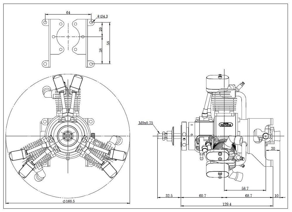 SAITO FG 19 R3 3 Zylinder Viertakt Benzin Sternmotor 19ccm Aeronaut 710082 together with 999979002 moreover 739553 additionally Quadratic equations besides Engineering Class Chains Sprockets. on product information form