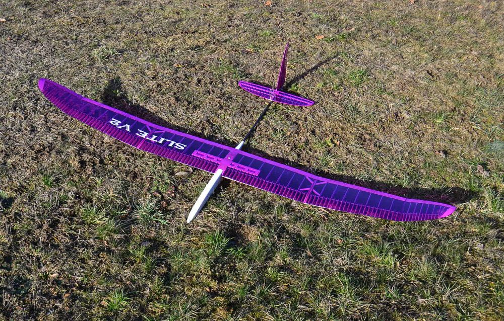 SLITE V2, 2m RES competition glider, CNC-lasercut kit (GrünerCNC), # GRU2070